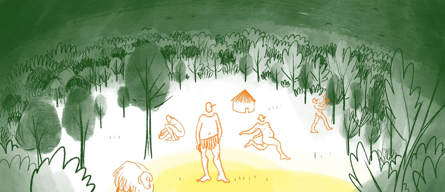 La forêt aux temps mythiques, histoire illustrée, copin.