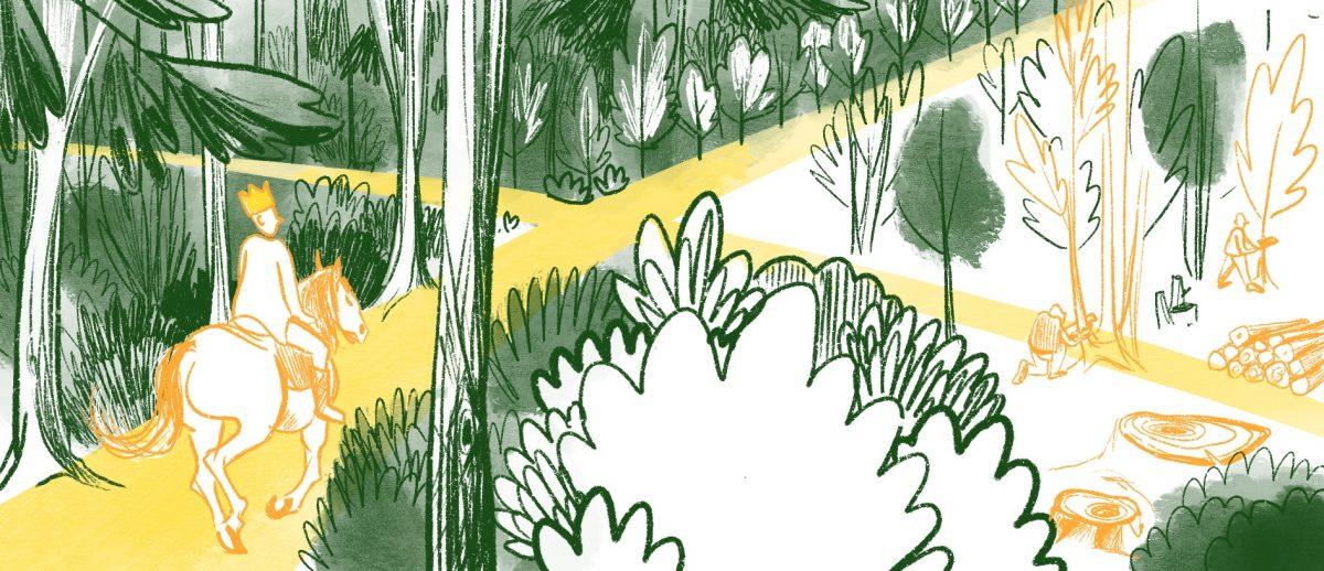 La forêt royale, histoire illustrée, Copin.