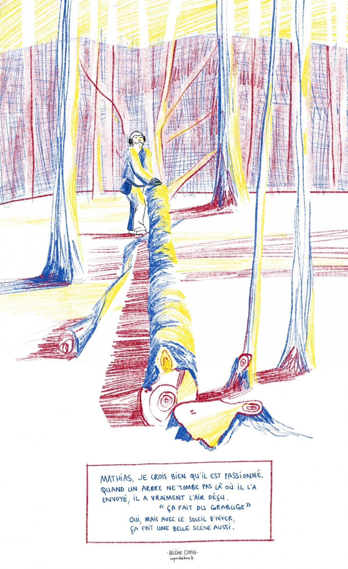 Bûcheron gestionnaire, Mathias Bonneau, copin des bois