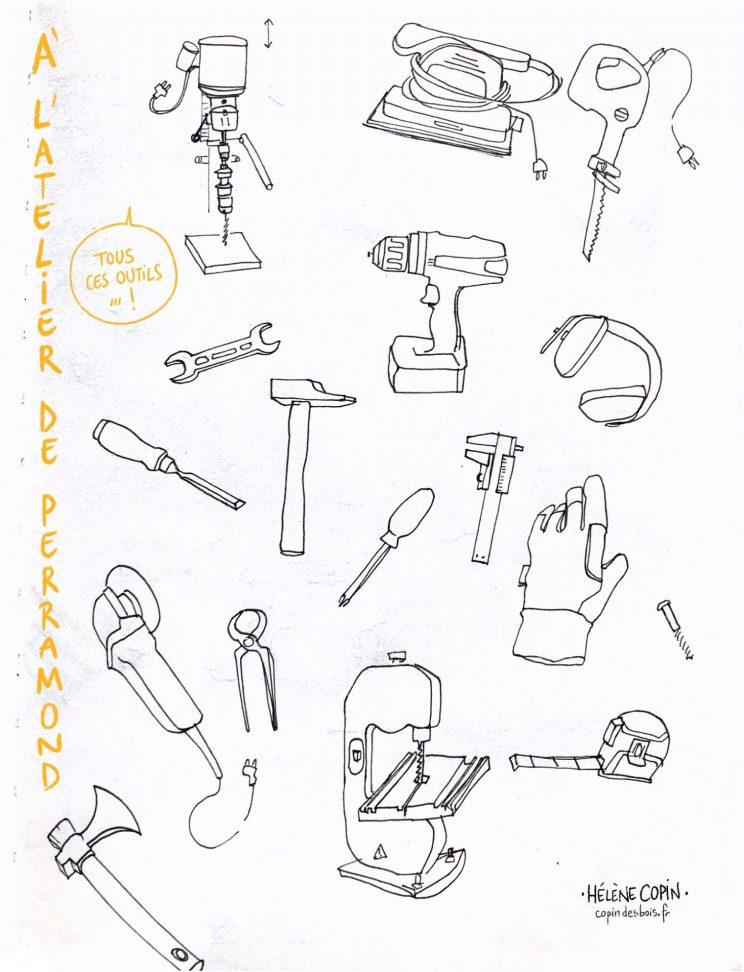 Perramond, les outils de l'atelier partagé.