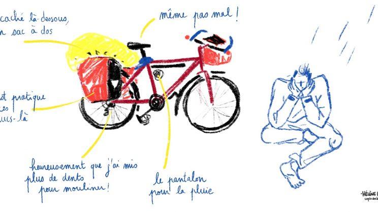 Voyage à vélo, traversée vers l'Ardèche, copindesbois