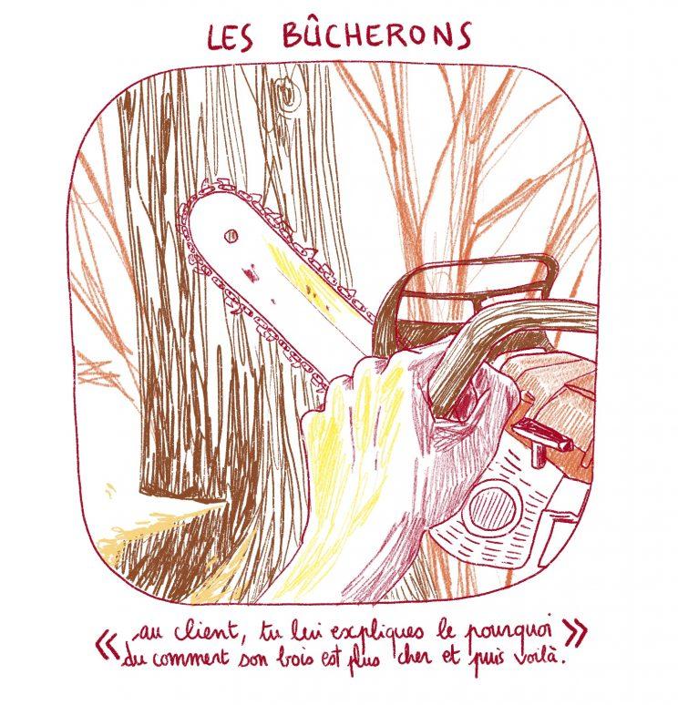 AMAP bois bûche, Drôme, Dryade, bûcheron