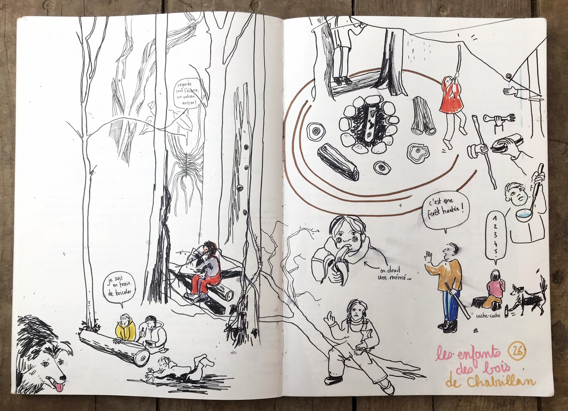 Les enfants des bois, asso Dryade, carnet, copindesbois