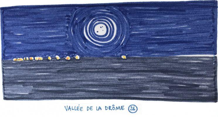 Vallée de la Drôme la nuit, copindesbois