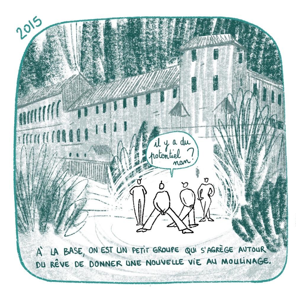 Moulinage de Chirols, histoire des statuts, arrivée