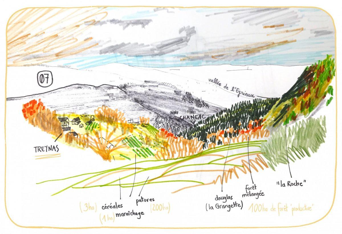 Treynas, communauté Longo Maï Ardèche, le territoire