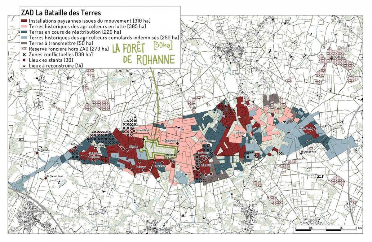 Carte de la ZAD de Notre-Dame-des-Landes, Prise de terre(s), copin des bois